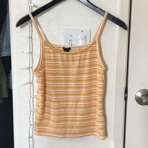 Forever21 Orange & white striped tank top